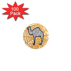Animals Camel Animals Deserts Yellow 1  Mini Magnets (100 Pack)  by Mariart