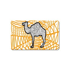 Animals Camel Animals Deserts Yellow Magnet (name Card) by Mariart