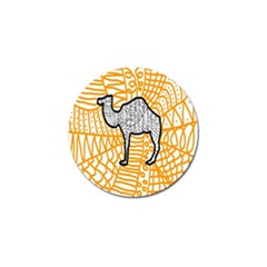 Animals Camel Animals Deserts Yellow Golf Ball Marker (4 Pack) by Mariart