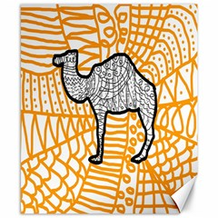 Animals Camel Animals Deserts Yellow Canvas 8  X 10  by Mariart