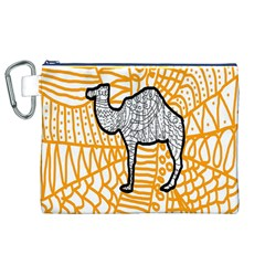 Animals Camel Animals Deserts Yellow Canvas Cosmetic Bag (xl) by Mariart