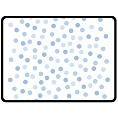 Bubble Balloon Circle Polka Blue Double Sided Fleece Blanket (large)  by Mariart