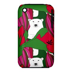 Animals White Bear Flower Floral Red Green Iphone 3s/3gs by Mariart