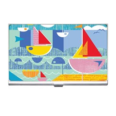 Boats Ship Sea Beach Business Card Holders by Mariart