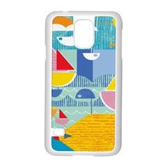 Boats Ship Sea Beach Samsung Galaxy S5 Case (white) by Mariart