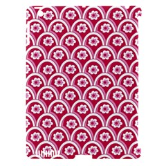 Botanical Gardens Sunflower Red White Circle Apple Ipad 3/4 Hardshell Case (compatible With Smart Cover) by Mariart