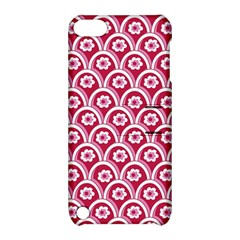 Botanical Gardens Sunflower Red White Circle Apple Ipod Touch 5 Hardshell Case With Stand by Mariart