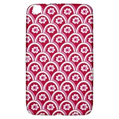 Botanical Gardens Sunflower Red White Circle Samsung Galaxy Tab 3 (8 ) T3100 Hardshell Case  by Mariart