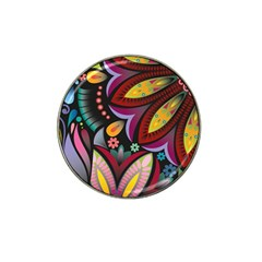 Flower Floral Sunflower Rose Color Rainbow Circle Polka Hat Clip Ball Marker (10 Pack) by Mariart