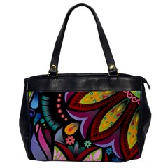 Flower Floral Sunflower Rose Color Rainbow Circle Polka Office Handbags by Mariart