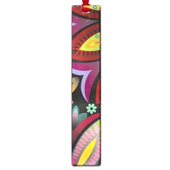 Flower Floral Sunflower Rose Color Rainbow Circle Polka Large Book Marks by Mariart