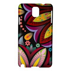 Flower Floral Sunflower Rose Color Rainbow Circle Polka Samsung Galaxy Note 3 N9005 Hardshell Case by Mariart
