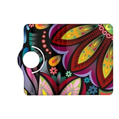 Flower Floral Sunflower Rose Color Rainbow Circle Polka Kindle Fire Hd (2013) Flip 360 Case by Mariart