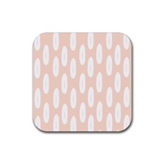 Donut Rainbows Beans White Pink Food Rubber Square Coaster (4 Pack)  by Mariart