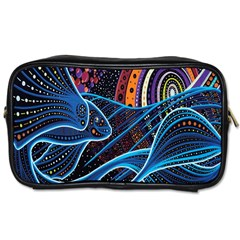 Fish Out Of Water Monster Space Rainbow Circle Polka Line Wave Chevron Star Toiletries Bags 2 Side by Mariart