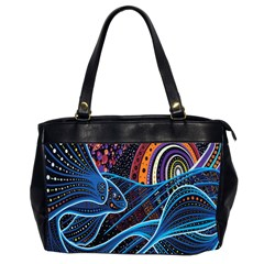 Fish Out Of Water Monster Space Rainbow Circle Polka Line Wave Chevron Star Office Handbags (2 Sides)  by Mariart