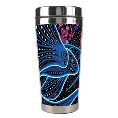 Fish Out Of Water Monster Space Rainbow Circle Polka Line Wave Chevron Star Stainless Steel Travel Tumblers by Mariart