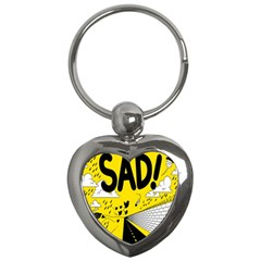 Have Meant  Tech Science Future Sad Yellow Street Key Chains (heart)  by Mariart