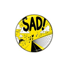 Have Meant  Tech Science Future Sad Yellow Street Hat Clip Ball Marker by Mariart