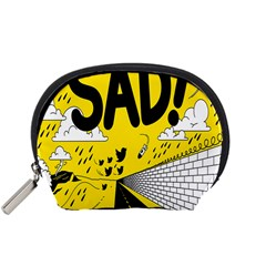 Have Meant  Tech Science Future Sad Yellow Street Accessory Pouches (small)  by Mariart