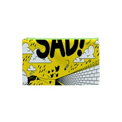 Have Meant  Tech Science Future Sad Yellow Street Cosmetic Bag (xs) by Mariart