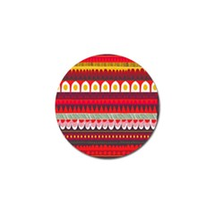 Fabric Aztec Red Line Polka Circle Wave Chevron Star Golf Ball Marker (4 Pack) by Mariart
