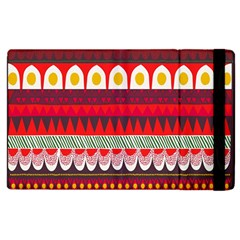 Fabric Aztec Red Line Polka Circle Wave Chevron Star Apple Ipad 2 Flip Case by Mariart