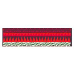 Fabric Aztec Red Line Polka Circle Wave Chevron Star Satin Scarf (oblong) by Mariart