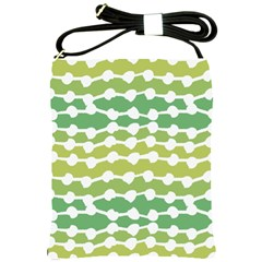 Polkadot Polka Circle Round Line Wave Chevron Waves Green White Shoulder Sling Bags by Mariart