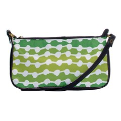 Polkadot Polka Circle Round Line Wave Chevron Waves Green White Shoulder Clutch Bags by Mariart