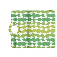 Polkadot Polka Circle Round Line Wave Chevron Waves Green White Kindle Fire Hdx 8 9  Flip 360 Case by Mariart