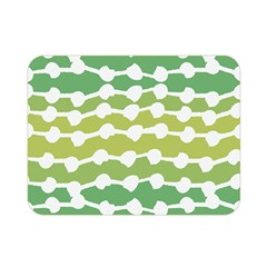 Polkadot Polka Circle Round Line Wave Chevron Waves Green White Double Sided Flano Blanket (mini)  by Mariart