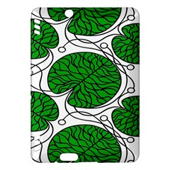 Leaf Green Kindle Fire Hdx Hardshell Case by Mariart