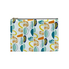 Pebbles Texture Mid Century Cosmetic Bag (medium)  by Mariart