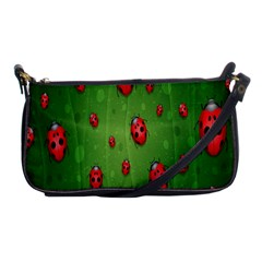 Ladybugs Red Leaf Green Polka Animals Insect Shoulder Clutch Bags by Mariart