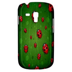 Ladybugs Red Leaf Green Polka Animals Insect Galaxy S3 Mini by Mariart