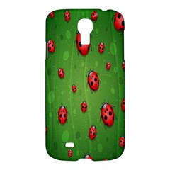 Ladybugs Red Leaf Green Polka Animals Insect Samsung Galaxy S4 I9500/i9505 Hardshell Case by Mariart