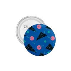 Seamless Triangle Circle Blue Waves Pink 1 75  Buttons by Mariart