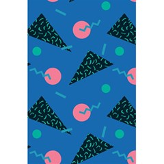 Seamless Triangle Circle Blue Waves Pink 5 5  X 8 5  Notebooks by Mariart