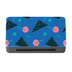 Seamless Triangle Circle Blue Waves Pink Memory Card Reader With Cf by Mariart