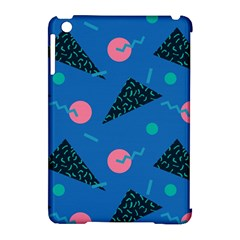 Seamless Triangle Circle Blue Waves Pink Apple Ipad Mini Hardshell Case (compatible With Smart Cover) by Mariart