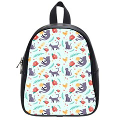 Redbubble Animals Cat Bird Flower Floral Leaf Fish School Bags (small)  by Mariart