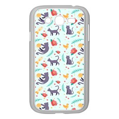 Redbubble Animals Cat Bird Flower Floral Leaf Fish Samsung Galaxy Grand Duos I9082 Case (white) by Mariart