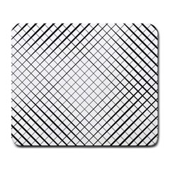 Simple Pattern Waves Plaid Black White Large Mousepads by Mariart