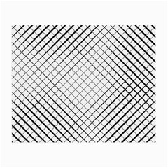 Simple Pattern Waves Plaid Black White Small Glasses Cloth (2 Side) by Mariart