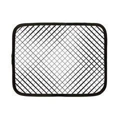 Simple Pattern Waves Plaid Black White Netbook Case (small)  by Mariart
