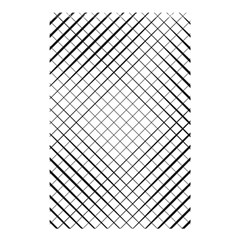 Simple Pattern Waves Plaid Black White Shower Curtain 48  X 72  (small)  by Mariart