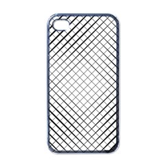 Simple Pattern Waves Plaid Black White Apple Iphone 4 Case (black) by Mariart