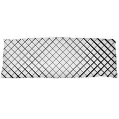 Simple Pattern Waves Plaid Black White Body Pillow Case (dakimakura) by Mariart