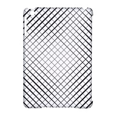 Simple Pattern Waves Plaid Black White Apple Ipad Mini Hardshell Case (compatible With Smart Cover) by Mariart